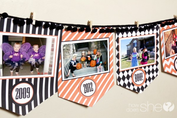 Decorate for Halloween with a FREE Photo Banner Printable