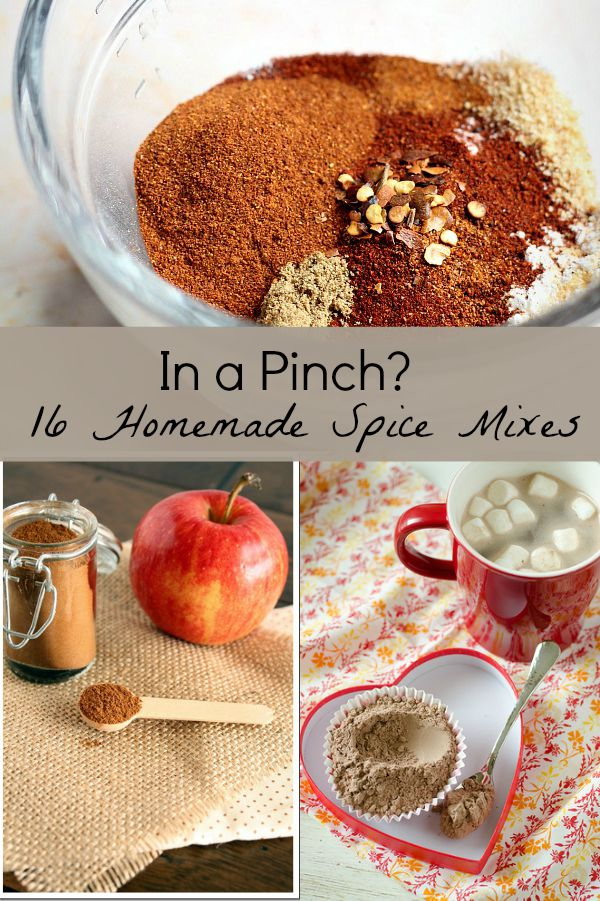 Homemade spice mixes collage