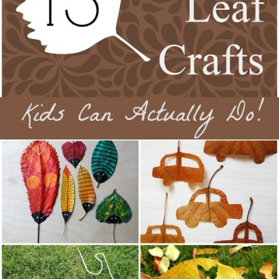 13 Easy Leaf Crafts Kids Can Actually Do!