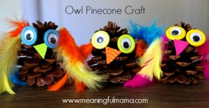 owl-pinecone-craft-kids-fall