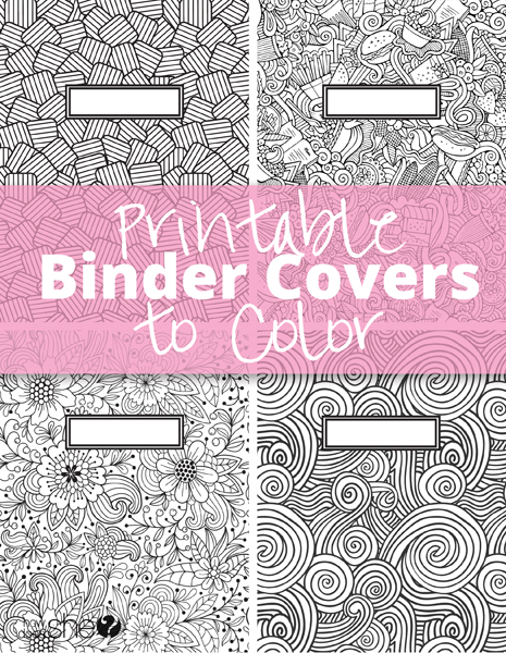 printable binder covers to color free download for back to school