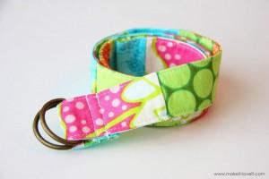 scrap fabric belt