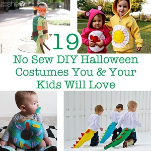 19 No Sew Halloween Costumes You and Your Kids Will Love