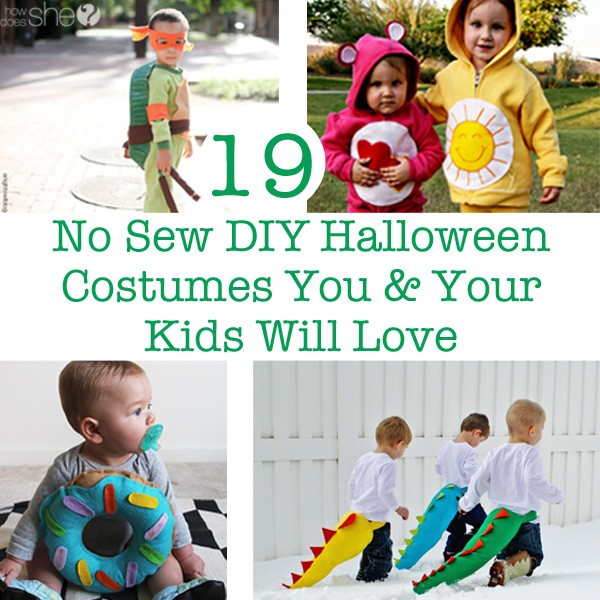 sc 1 st  How Does She & 19 No Sew DIY Halloween Costumes You u0026 Your Kids Will Love