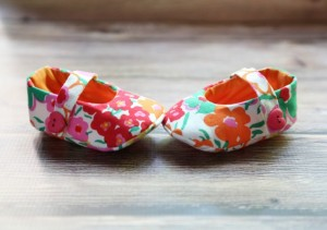 handmade sewn baby shoes