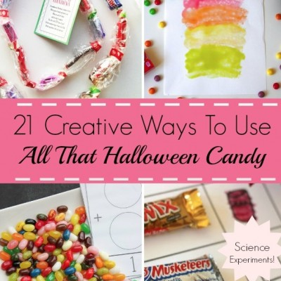 21 Creative Ways To Use All That Halloween Candy: I'm SO Doing #11 with My Kids This Year!