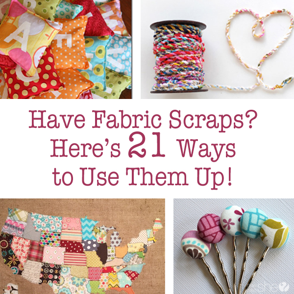 Fabric Scraps and Ways to Use Them: Scrap Fabric Projects