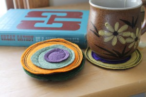 coasters made from scrap fabric