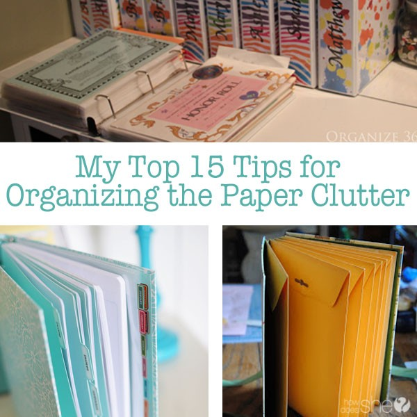 Organizing Paper Clutt... Organize Papers