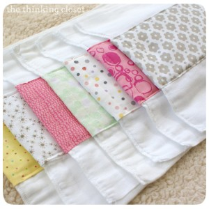 easy sew project burp cloths
