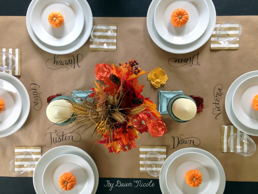 18 lovely thanksgiving table ideas how does she Cheap thanksgiving table setting ideas