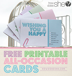 Free printable all-occasion cards