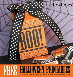 FREE printable Halloween treat bags & candy wrappers