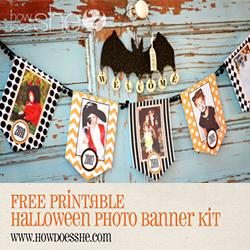FREE printable Halloween photo banner