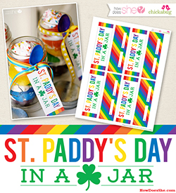 FREE St. Paddy's Day in a Jar – gifting printable