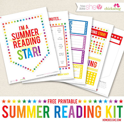 "FREE printable ""summer reading star"" kit"