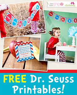 Free Dr. Seuss Printables for Dr. Seuss Day