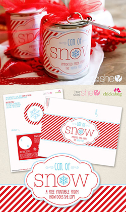 "FREE ""can of snow"" printables"