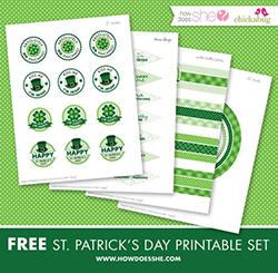 FREE printable St. Patrick's Day printables set