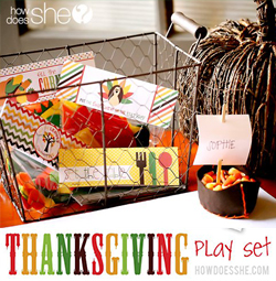 Thanksgiving Play Set – Printable Pattern