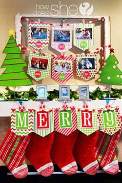 FREE printable Christmas photo banner kit
