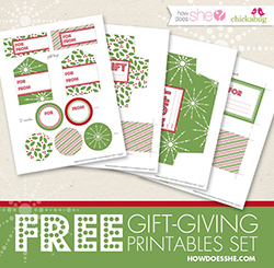 FREE printable gift-giving set