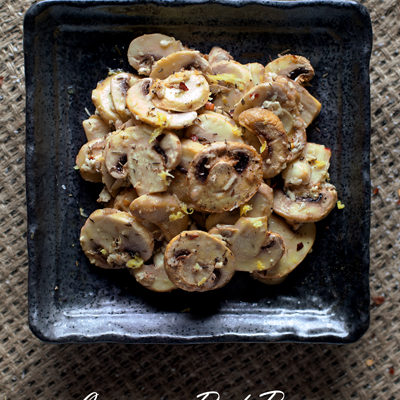 Easy Peasy Lemon & Red Pepper Baked Mushrooms