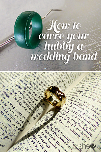 how to carve your hubby a wedding band!