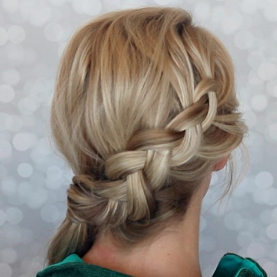 Side Dutch Braid Ponytail