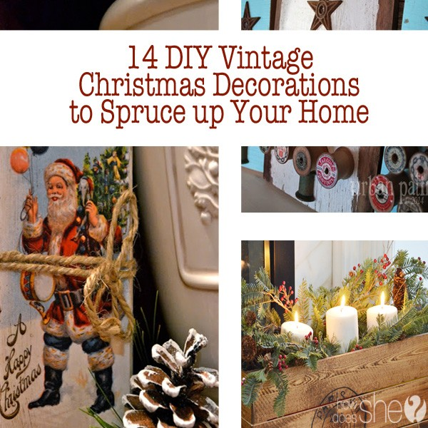 Super 14 DIY Vintage Christmas Decorations RL33