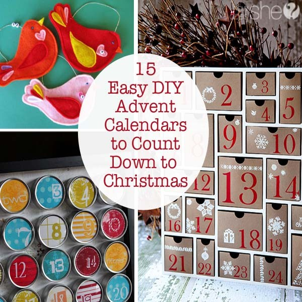 15 Easy DIY Advent Calendars to Count Down to Christmas
