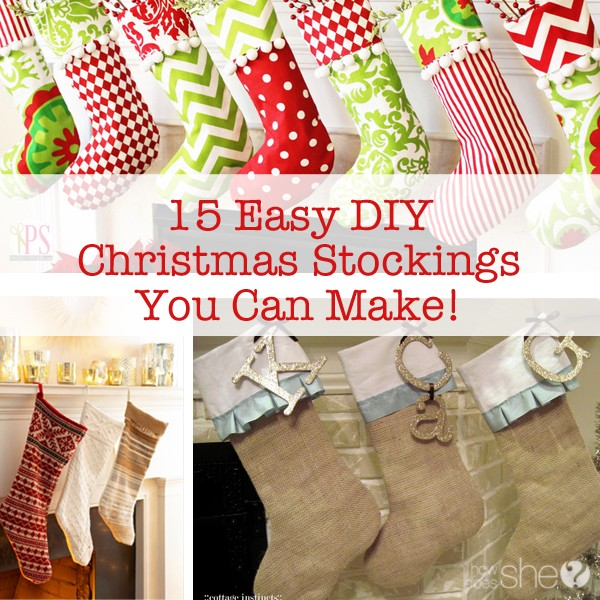 15 Easy Diy Christmas Stockings You Can Make