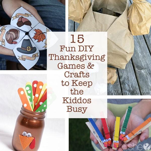 Fun DIY Thanksgiving Games & Crafts