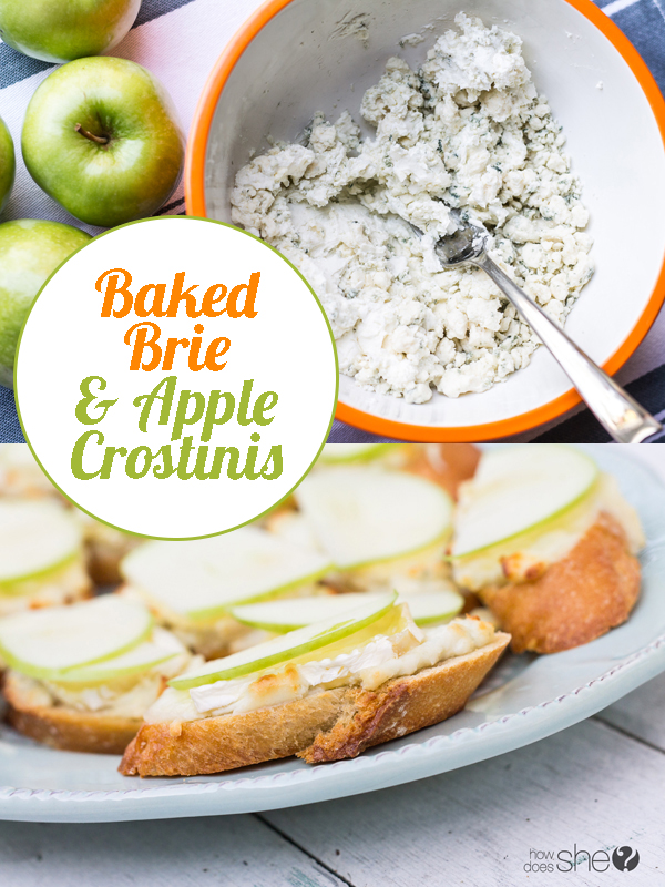 Baked Brie and Apple Crostinis Appetizer Recipe
