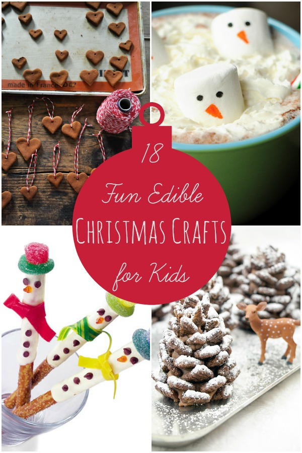 Edible Christmas Crafts Collage