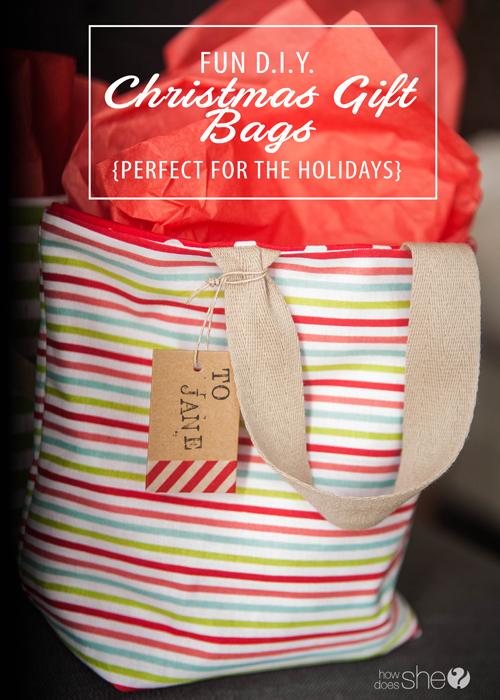 Christmas Gift Bags Diy.Fun D I Y Christmas Gift Bags Perfect For The Holidays