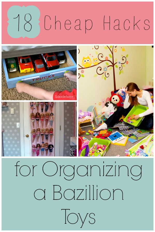 cheap hacks for organizing a bazillion toys