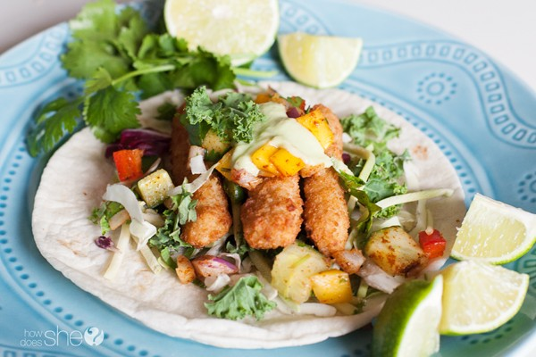 Wicked Simple Fish Tacos with Mango Salsa and Avocado Cream | How Does ...
