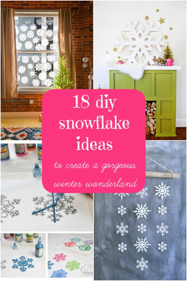 DIY Snowflake Ideas Collage