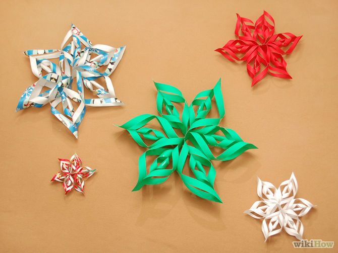 3d wrapping paper snowflakes