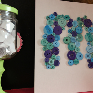 Button Monogram How-To Video: The Perfect Gift for Teens