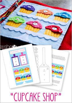 """Cupcake Shop"" Felt Book Pattern"