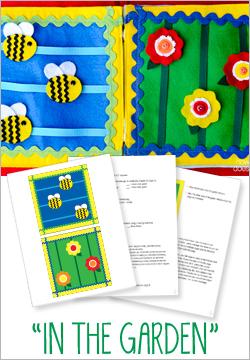 """""""In The Garden"""" Felt Quiet Book Pattern"""