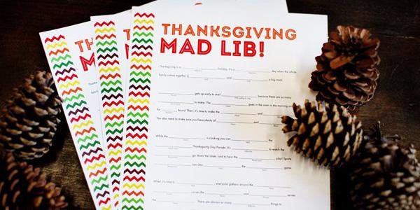 Thanksgiving Mad Lib – Exclusive Free Printable!