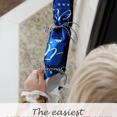 The Easiest Christmas Countdown for Kids {using wrapping paper and leftover Halloween candy!}