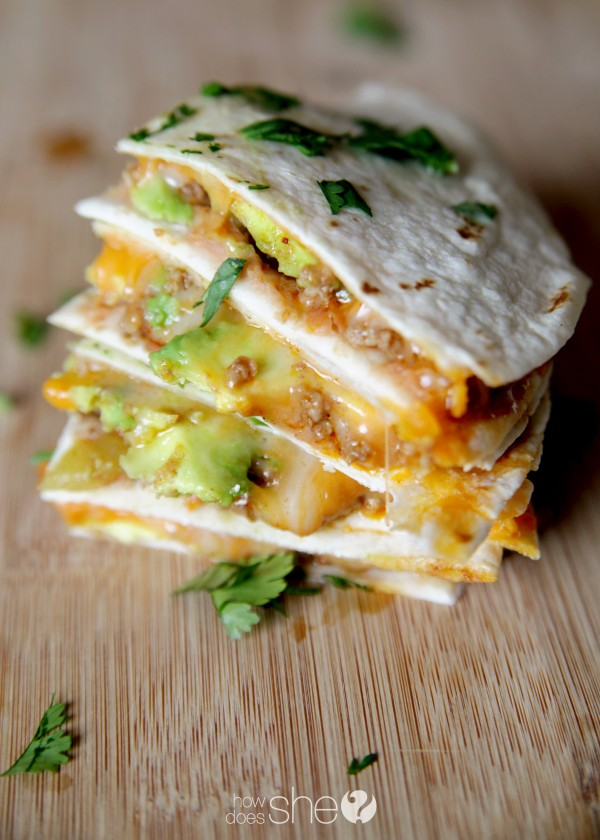 Cheesy Beef Quesadillas with Avocado - Elevate Your Ground ...