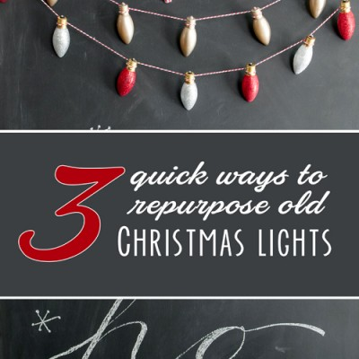 3 quick ways to repurpose old Christmas lights