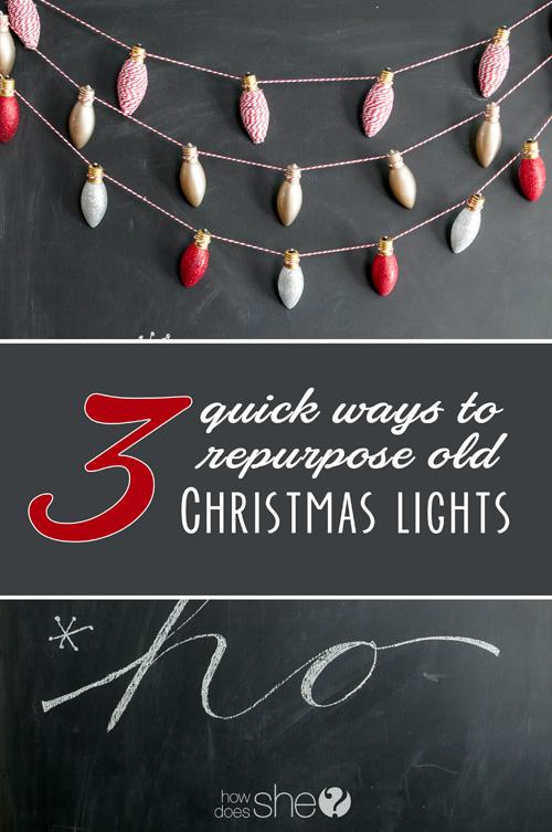 3 quick ways to repurpose old Christmas lights