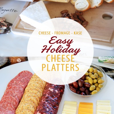 Easy Holiday Cheese Platters