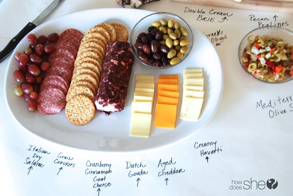 easy holiday cheese platters how does she